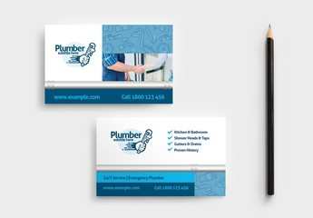 Business Card Layout for Plumbing Services