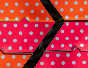 High Angle View Of Polka Dot Pattern