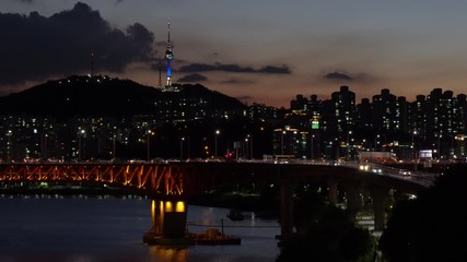 Papier Peint - 4k Video Footage Traffic in Seoul City,South Korea