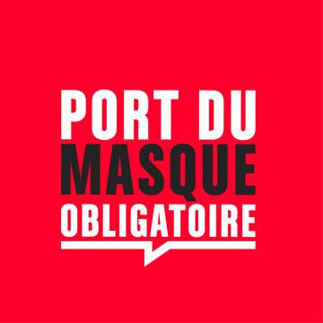 port du masque obligatoire- covid-19 vecteur