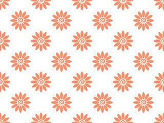 Fotorolgordijn Geometrisch Flower geometric pattern. Seamless vector background. White and pink ornament. Ornament for fabric, wallpaper, packaging. Decorative print