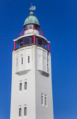 Fotomurales - Historic white lighthouse of historic city Harlingen, Netherlands
