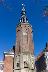 Fotomurales - Tower of the town hall in the center of Harlingen, Netherlands
