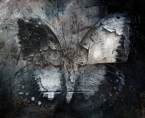 Photo sur Plexiglas Papillons dans Grunge grunge abstract butterfly texture