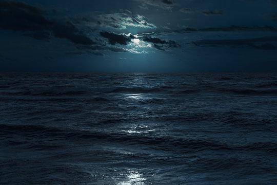 Baltic sea at moonlight