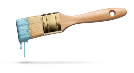 Perfect paintbrush on white with clipping path