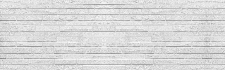 Panorama of White modern wall texture and seamless background.