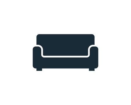 Sofa Couch Icon Vector Logo Template Illustration Design