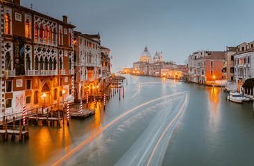 view of Santa Maria della Salute church on sunset. Venice, Italy Fototapete