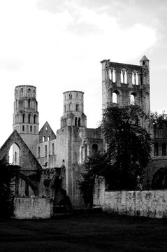 Ancient architecture in Normandy, France