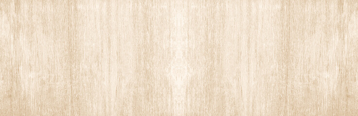 Wide Table top view of wood texture in beech white light panoramic background. Panorama Grey clean grain wooden floor birch panel backdrop concept with plain board pale detail streak for space clear.