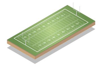 American football fields ometric. - Sport fields for infographic. - Vector illustration.