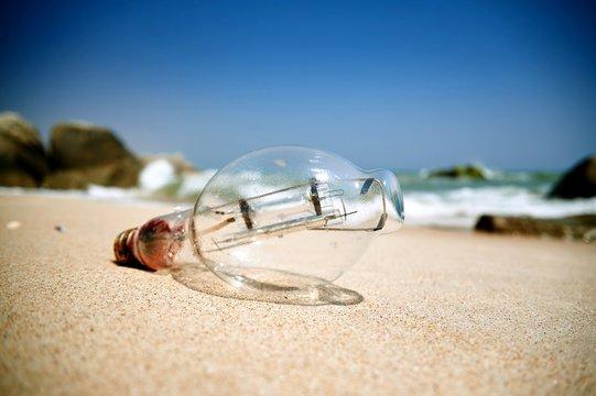 Surface Level Of Light Bulb On Shore