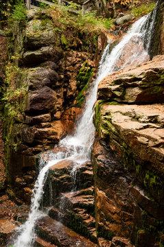 Flume gorge in Franconia Notch State Parke
