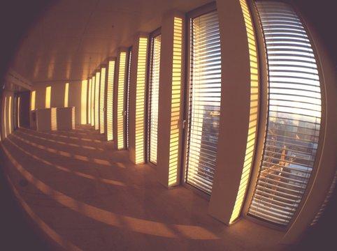 Empty Office Corridor