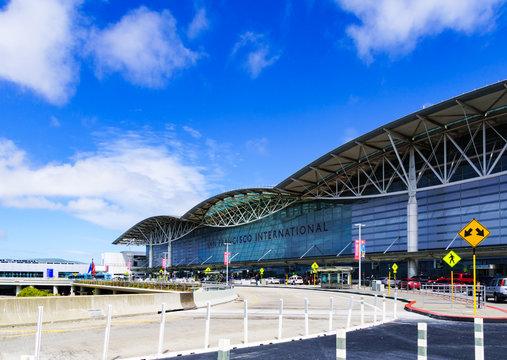 Landscape of San Francisco international airport