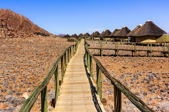 Cabins in the National Park in  Sossus Dune Lodges in Namibia