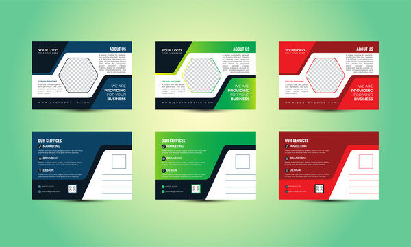 Corporate Postcard Design FEATURES - 3 Colors - 3 AI Files   - 3 EPS Files  - 3 PDF Files  - 1 Design  - Both side Designs  - Size: 6 x 4 inches (with bleed .125)  - CMYK Color  - 300dpi