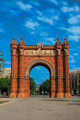 Foto op Aluminium Barcelona Arc de Triomphe in Barcelona. A popular place for tourists.