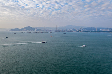Fotomurales - Aerial view of Hong Kong at daytime