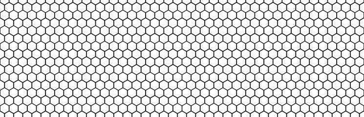Panorama hexagon isolated clipping path horizontal for design honeycomb texture for pattern .