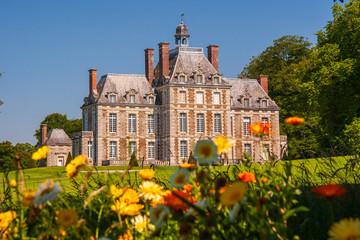 Schloss Balleroy Westseite in der Normandie in Frankreich Fototapete