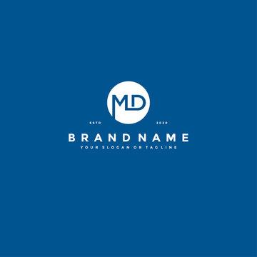 letter MD logo design vector