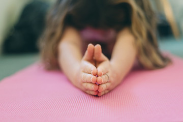 yoga pose with outstretched hands