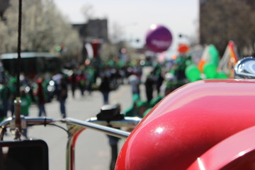 Cropped Image Of Vehicle During St Patrick Day