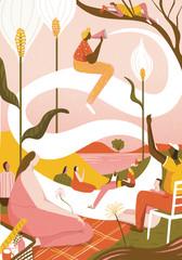 feel good, positivity, editorial illustration.