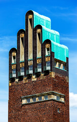 Five Finger Wedding Tower on Mathildenhoehe in Darmstadt, Hesse, Germany