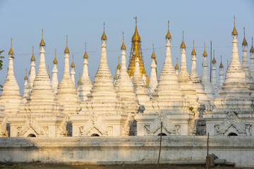 White Kuthodaw Pagoda in Myanmar