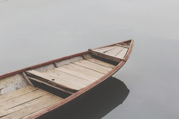 Cropped Image Of Boat In Lake