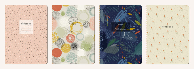 Trendy covers set. Cool abstra...
