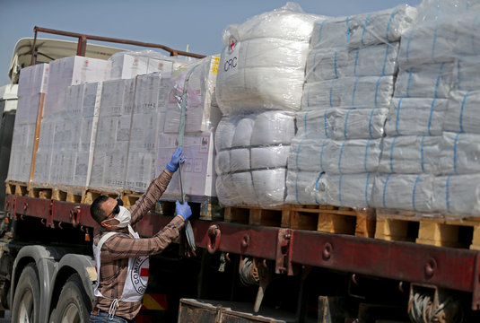 ICRC donates medical equipment amid concerns about the spread of the coronavirus disease in Gaza