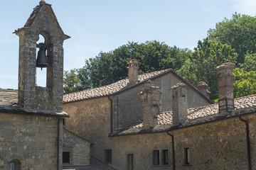 Fototapete - La Verna, medieval monastery in the Arezzo province