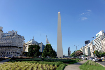 ARGENTINA - BUENOS AIRES - OBELISK WITH WRITING BA