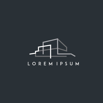 architect, architecture, home building logo. modern icon, template design