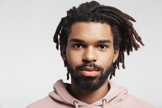 Portrait of a young african man wearing hoodie