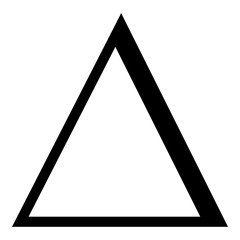 Delta greek symbol capital letter uppercase font icon black color vector illustration flat style image