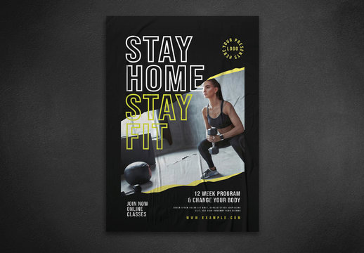 Fitness and Gym Flyer Layout