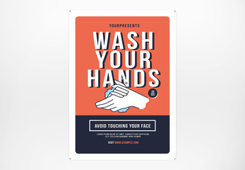 Wash Your Hand Flyer Layout