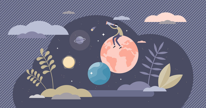 Exploring life vector illustration. Research lifestyle tiny persons concept