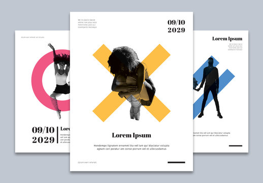 Set of Geometric Flyer Layouts