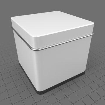 Square metal tin can 1