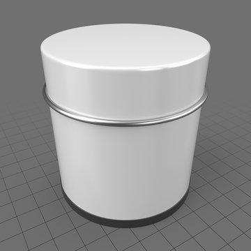 Round metal tin can 1