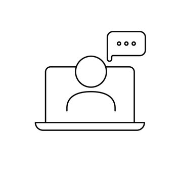 Educational resources vector line icon, online learning courses, distant education, e-learning tutorials