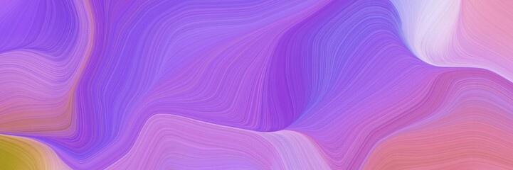 Deurstickers Fractal waves elegant graphic background with medium purple, pastel magenta and peru color. modern waves background design