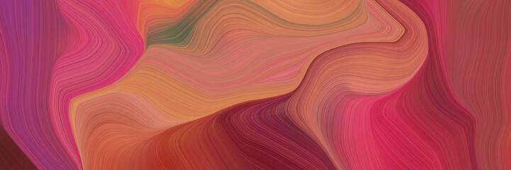 Foto auf AluDibond Koralle smooth elegant graphic background with moderate red, peru and indian red color. modern soft curvy waves background illustration