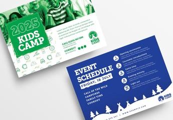 Kids Camp Flyer Layout for Summer School